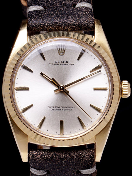 "RARE 1966 Rolex Oyster-Perpetual (Ref. 1013) 18K YG ""Oversized Case"""