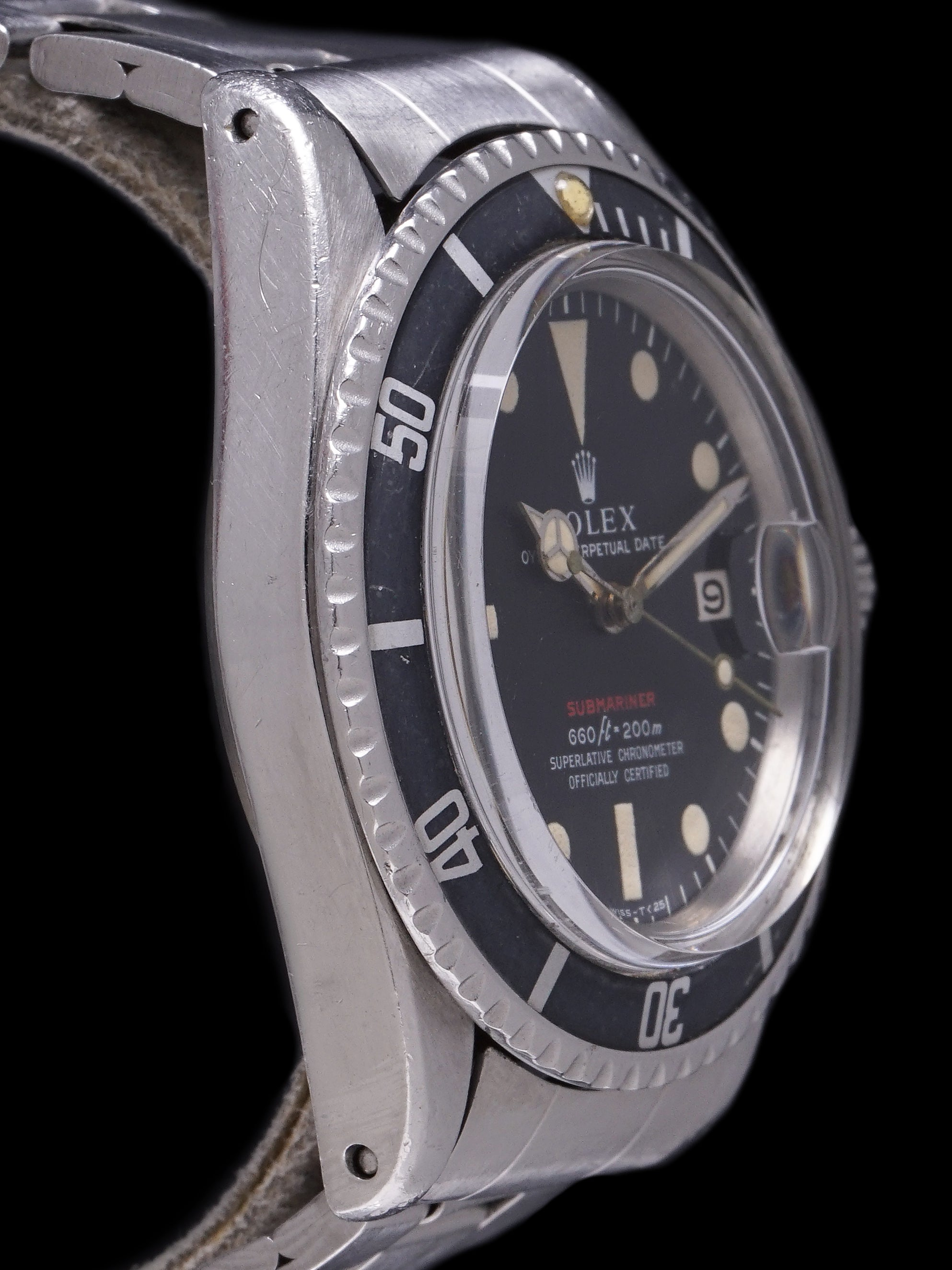 "1970 Rolex Red Submariner (Ref. 1680) ""Mk. IV Dial"" With Box and Papers"