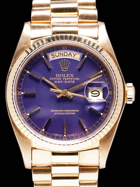 "1979 Rolex Day-Date (Ref. 18038) ""Purple Dial"" AKA ""The Grape"""