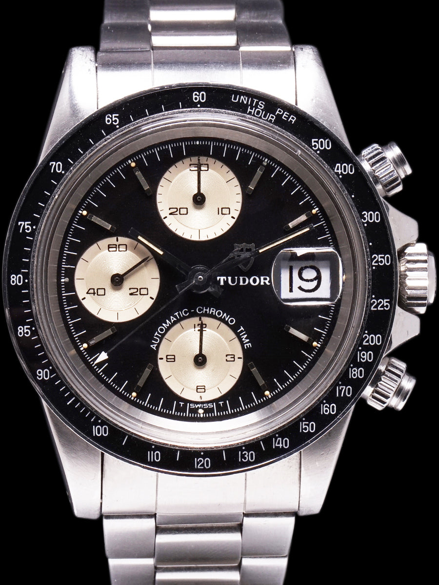 "1978 Tudor Chronograph Big Block (Ref. 9420/0) Black  ""Solo Dial"""