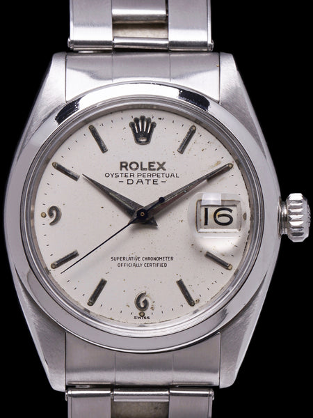 "1960 Rolex Oyster-Perpetual Date (Ref. 1500) ""SWISS"" Only Arabic Dial"