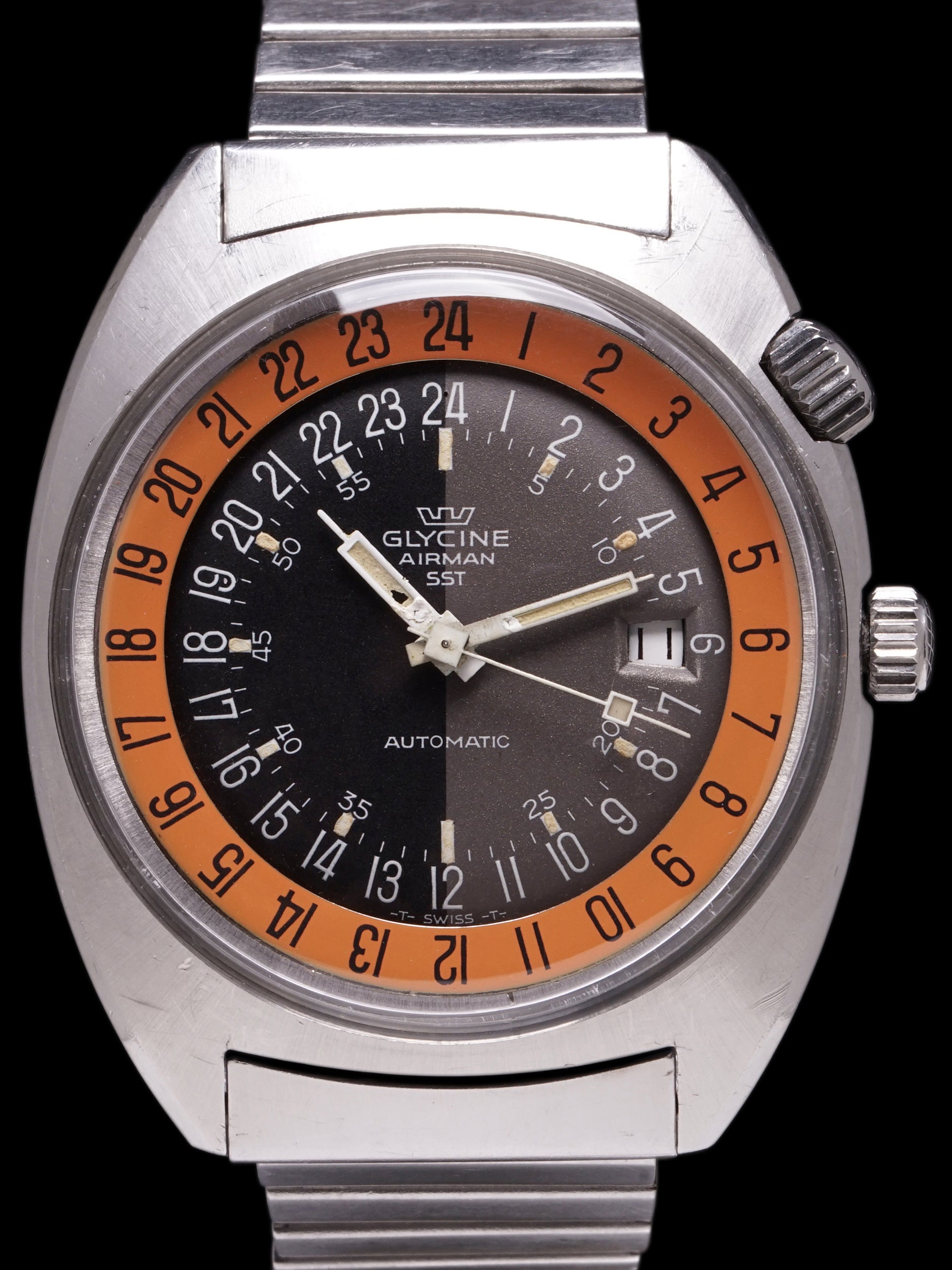 "1969 Glycine Airman SST 24Hr ""Pumpkin"""