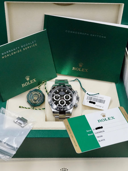 2016 Rolex Ceramic Daytona 116500LN Black Dial with Box and Papers