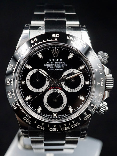 2017 Rolex Ceramic Daytona 116500LN Black Dial with Box and Papers