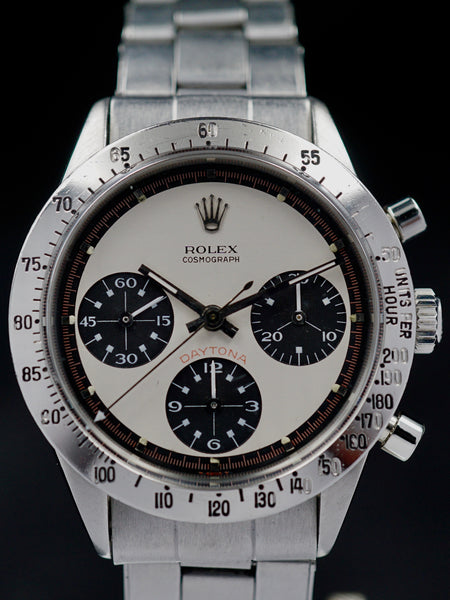 "1969 Rolex Daytona 6239 ""Paul Newman Exotic Dial"" W/ Box and Papers"
