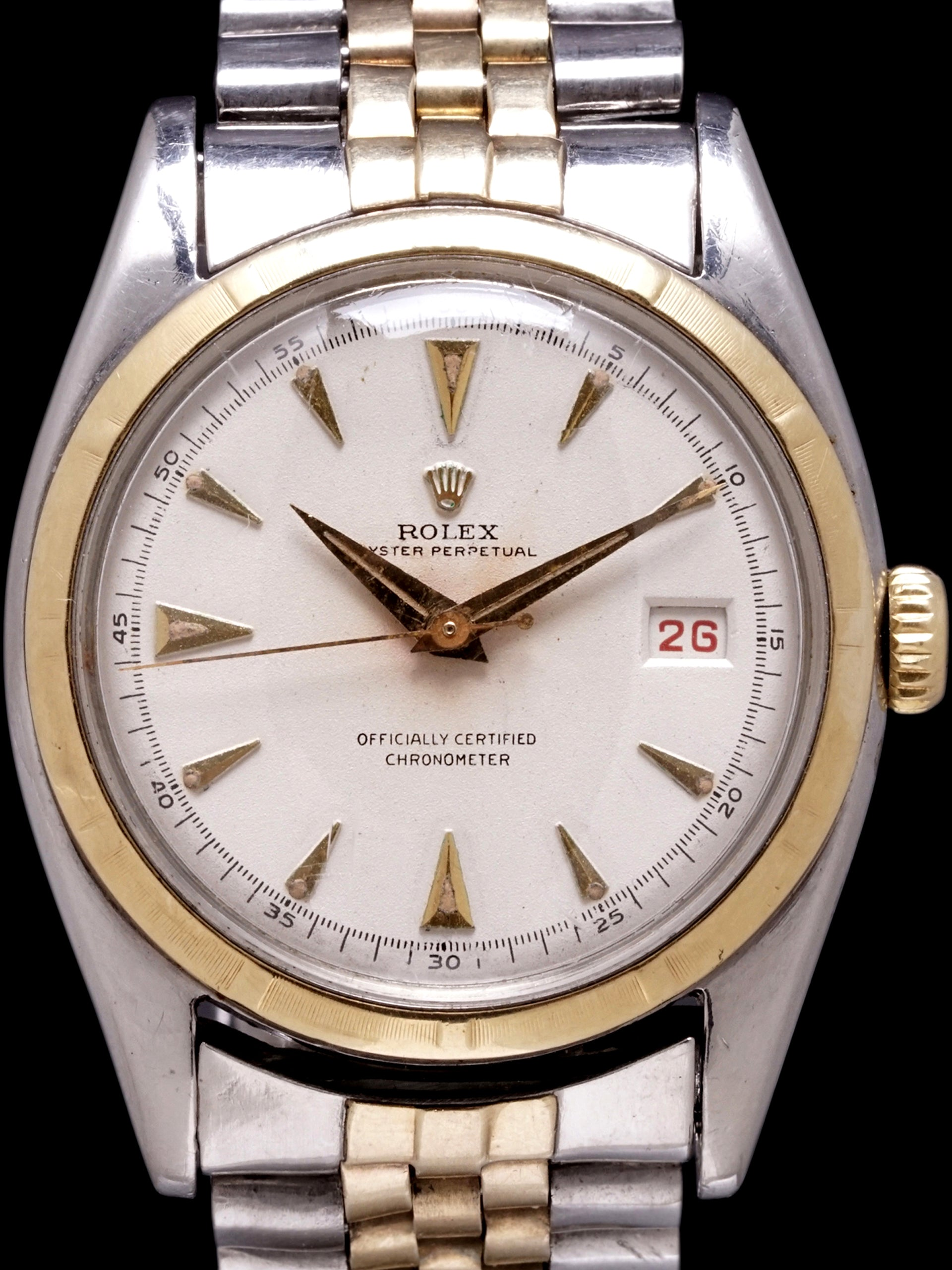 "1955 Rolex Two-Tone Datejust (Ref. 6105) ""Ovettone"""