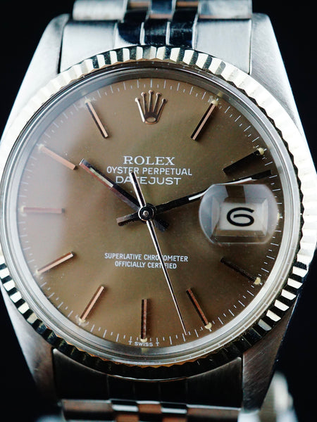 1981 Rolex Datejust (Ref. 16014) Grey Dial (Tropical)