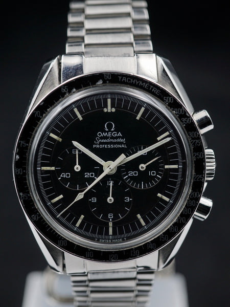 "1969 OMEGA Speedmaster 145.022 Rare Straight Writing ""Moon Watch"" Case Back"