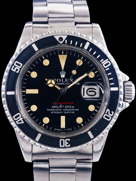 "1972 Rolex Red Submariner (Ref. 1680) ""Mk. IV Dial"" With Box and Double Punched Papers"