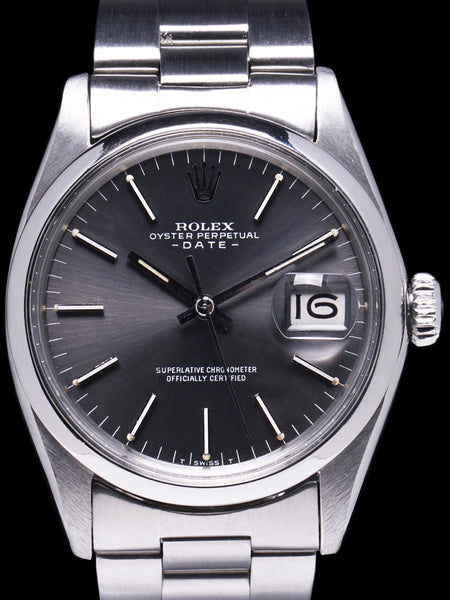 "1970 Rolex Oyster Perpetual Date (Ref. 1500) ""Grey Dial"""