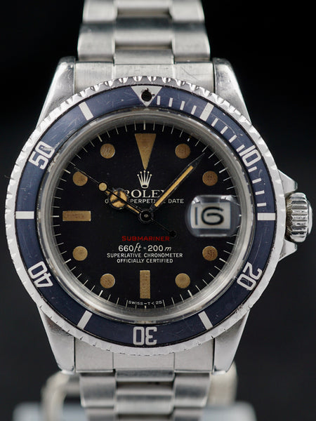 "1973 Rolex Red Submariner 1680 ""Burnt Orange"" MK VI Dial"