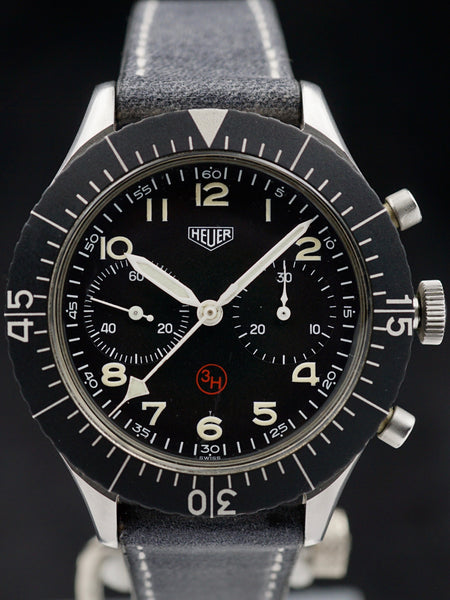 "Military Issued Heuer Pilot's ""Bund"" Bundeswehr Chronograph"