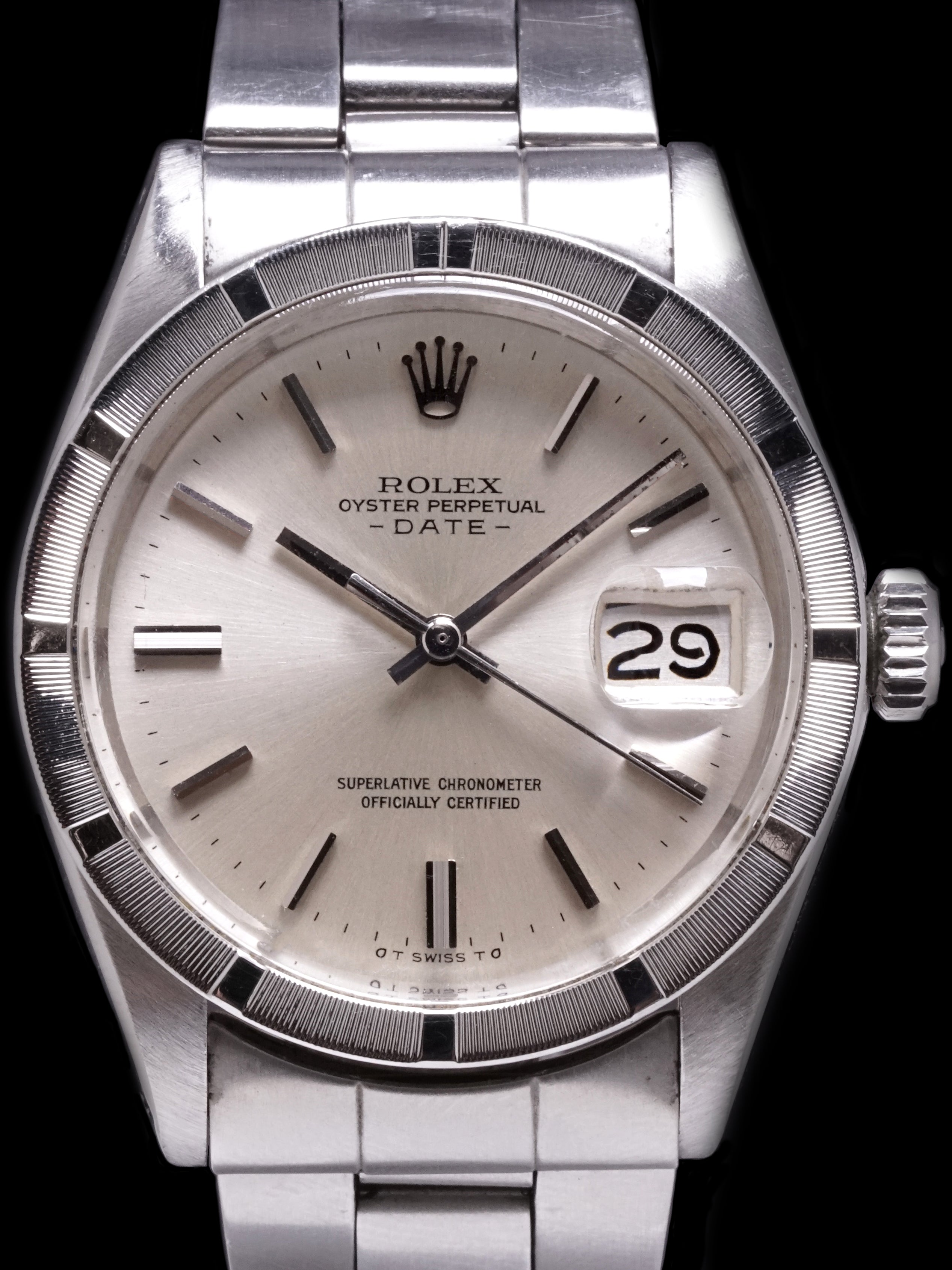 1973 Rolex Oyster-Perpetual Date (Ref. 1501) No-Lume Silver Sigma Dial