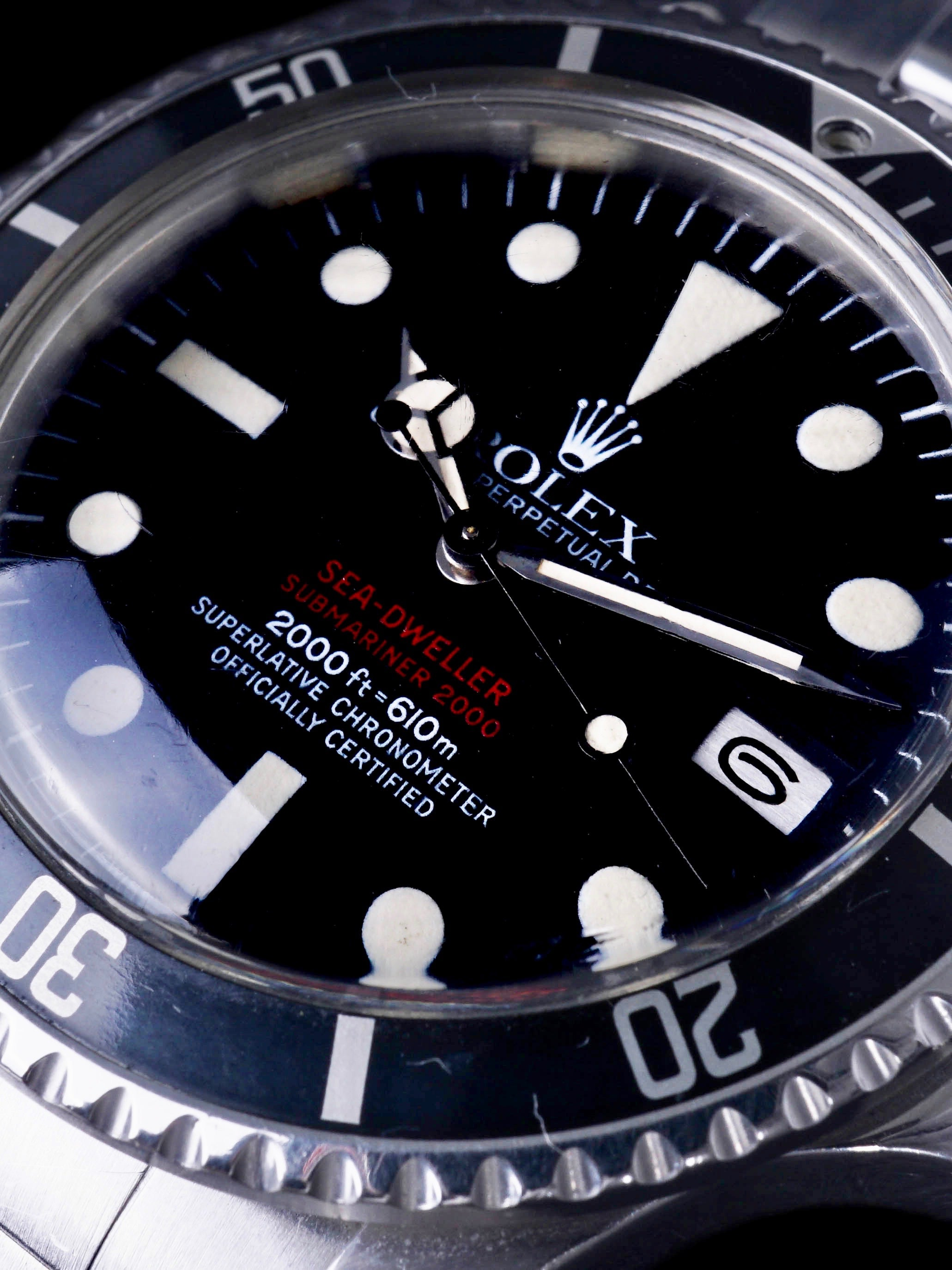 "1976 Rolex Double Red Sea-Dweller (Ref. 1665) ""Mk. IV"" W/ Box, Papers, Sales Receipt, and Service History"