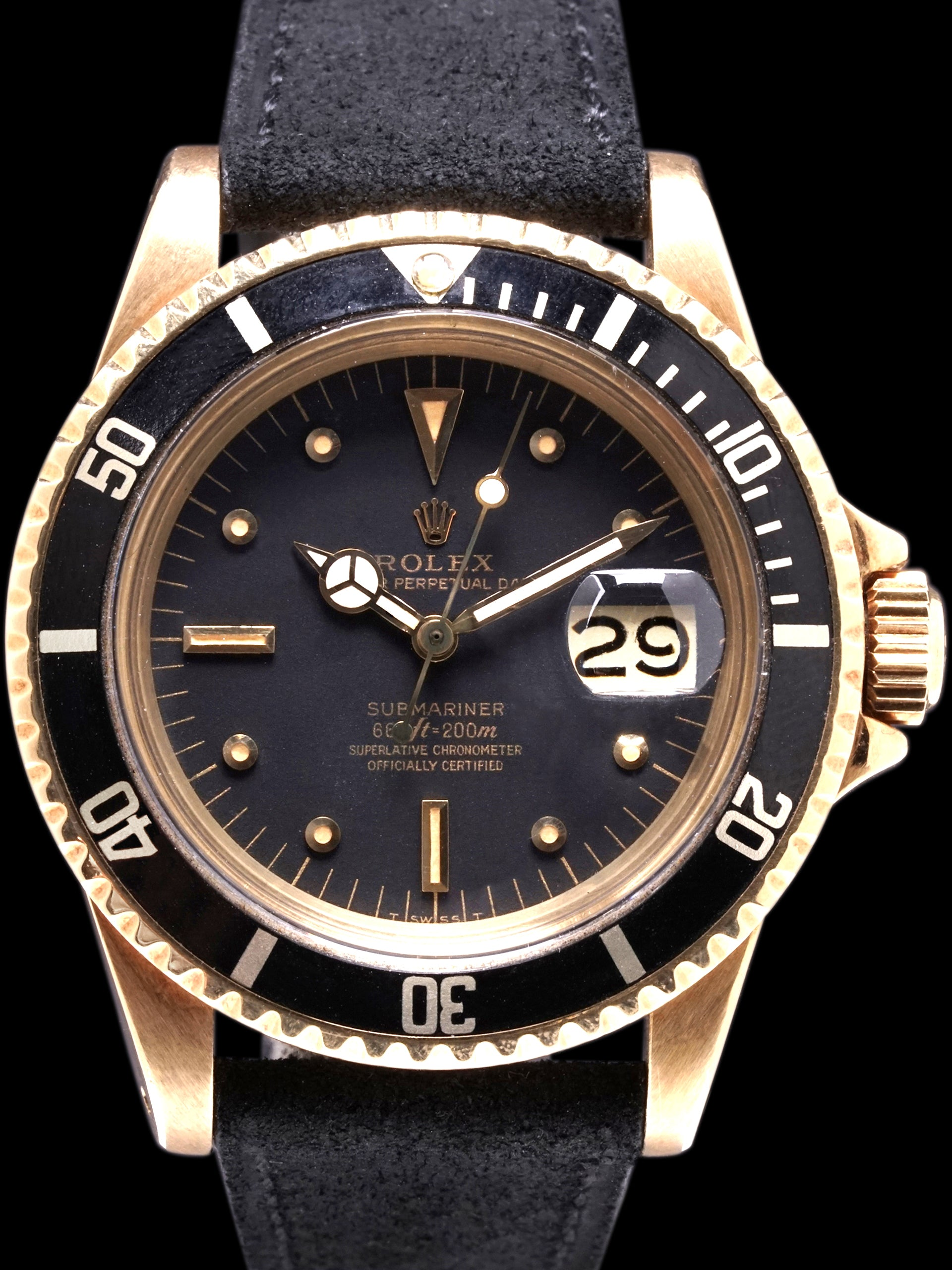 1972 Rolex Submariner (Ref. 1680) 18k YG