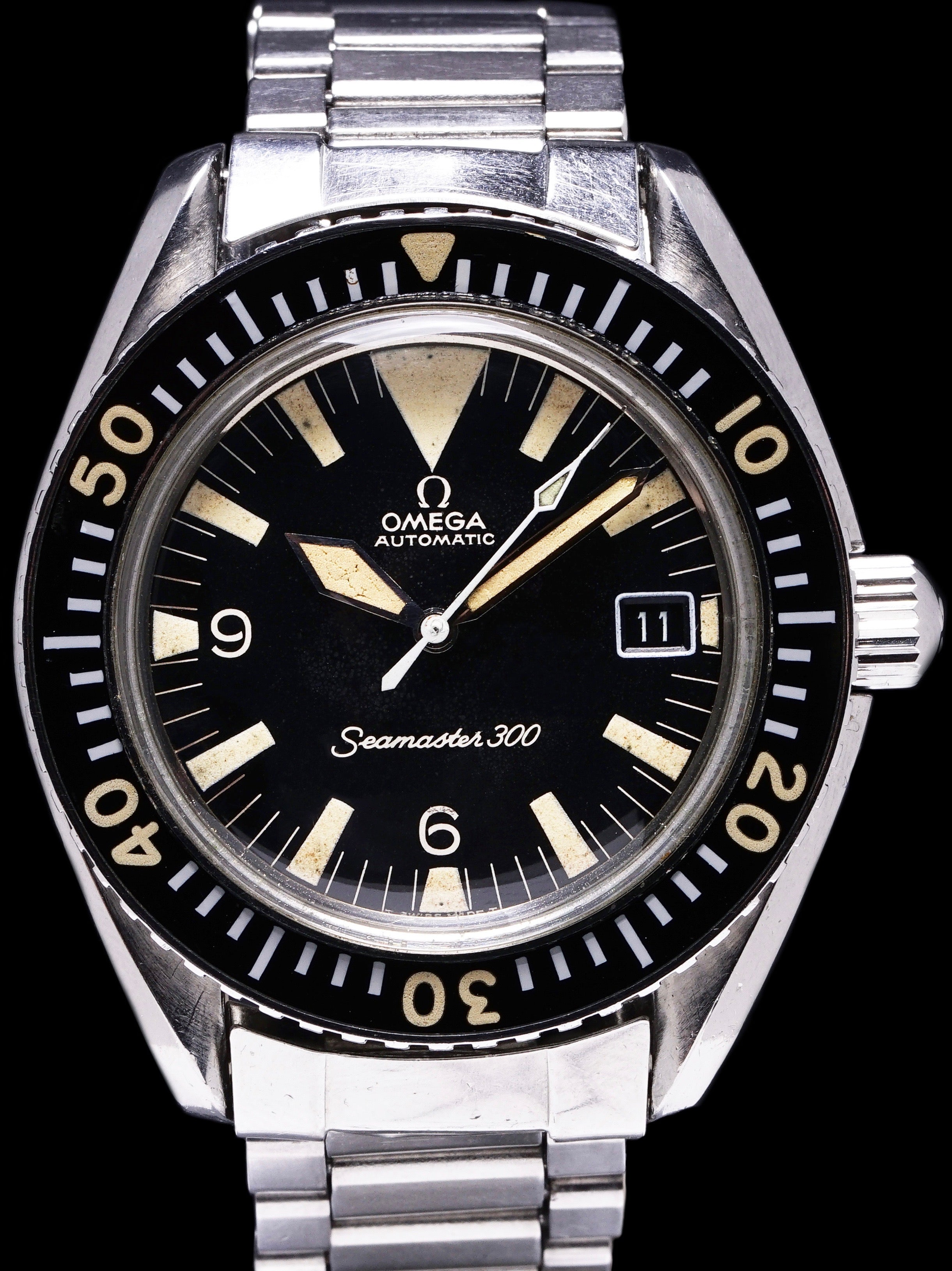 "1969 Omega Seamaster 300 (Ref. 166.024) ""Big Triangle"" W/ Archive"