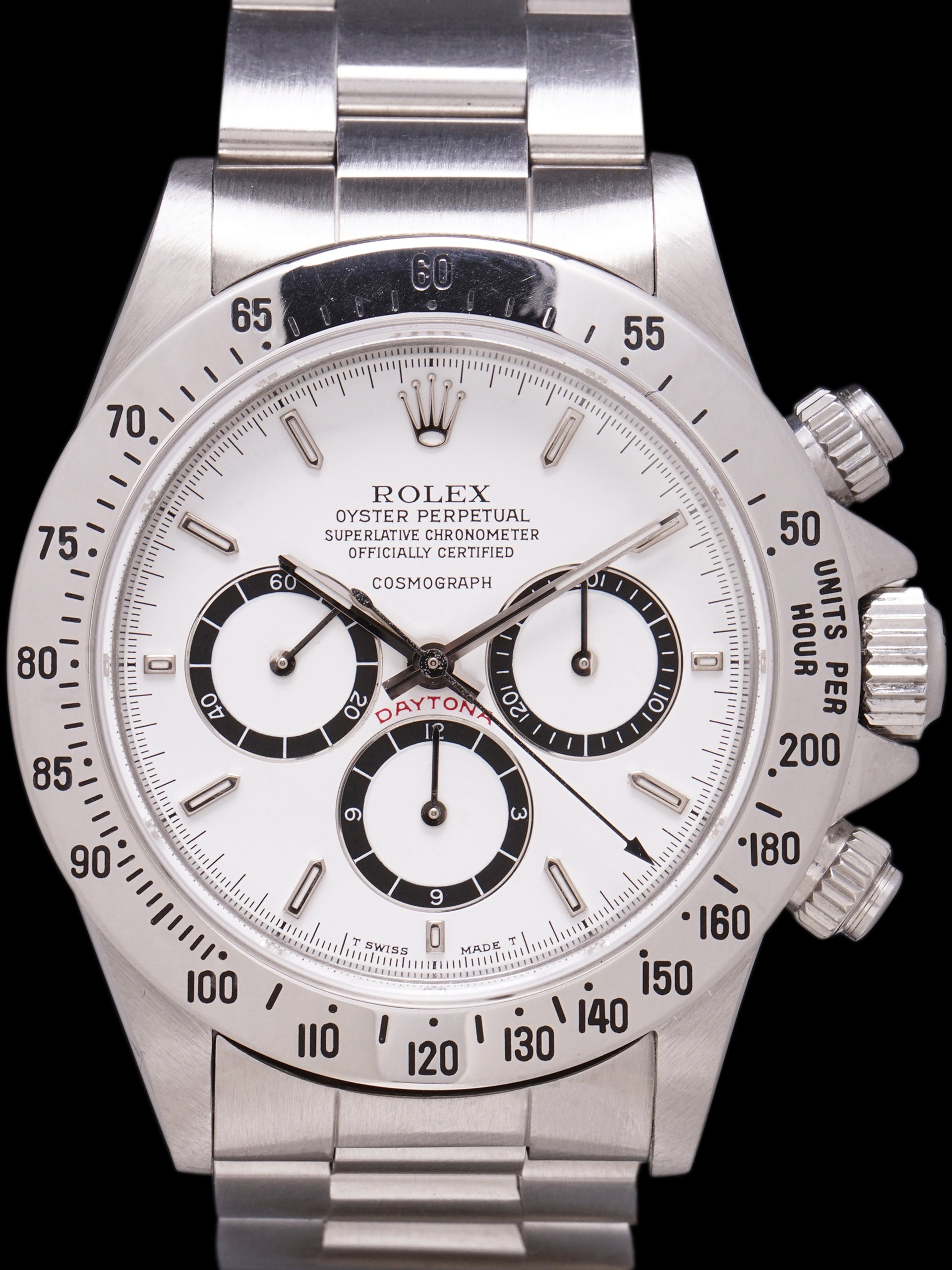 "*Unpolished* R-Serial 1988 Rolex Zenith Daytona (Ref. 16520) Mk. I ""Floating Cosmograph"" W/ Box, Papers & RSC Paper"