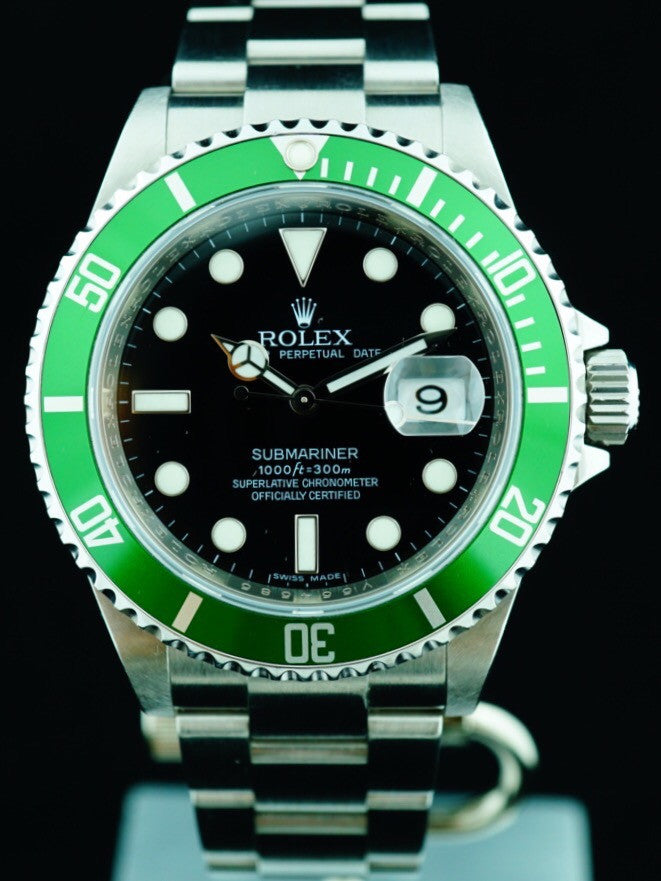2008 Rolex 50th Anniversary Green Submariner  (Ref. 16610LV) (MARK V Dial)