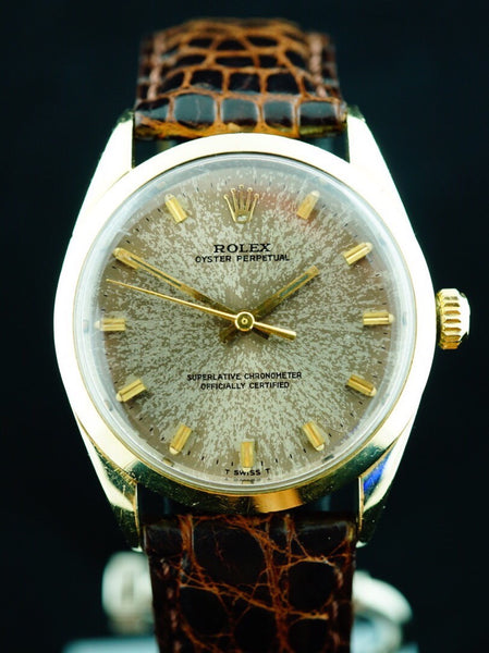 "1967 Rolex Oyster Perpetual (Ref. 1024) Gold Cap ""Tropical Dial"""