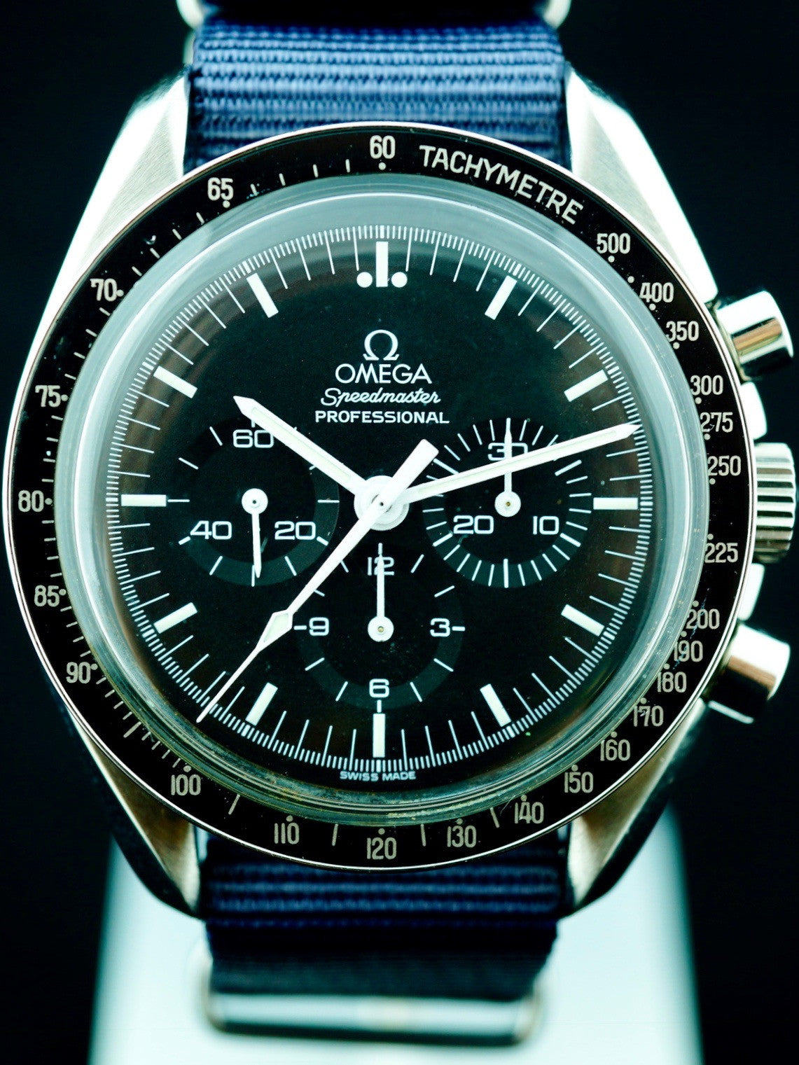 "1973 Omega Speedmaster 145.022 CALIBRE 861 Rare Straight Writing ""Moon Watch"" Case Back"