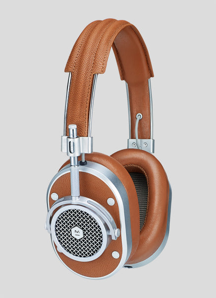 Master & Dynamic MH40 Over-Ear Headphones (Silver Metal / Brown Leather)