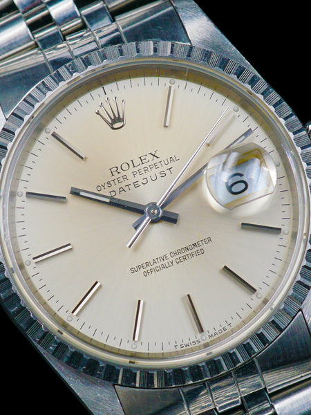 1990 Rolex Datejust (Ref. 16220) W/ Box and Papers
