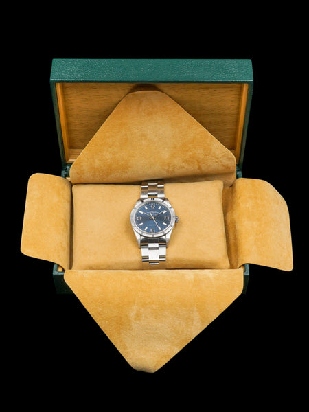 "1997 Rolex Air-King (Ref. 14010) ""Blue Explorer Dial"" With Box and Papers"