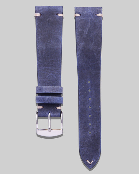 Vintage Style Watch Strap (Blue)