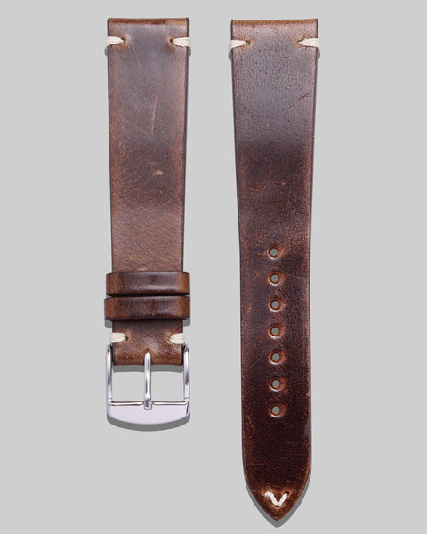 Vintage Style Watch Strap (Brown)