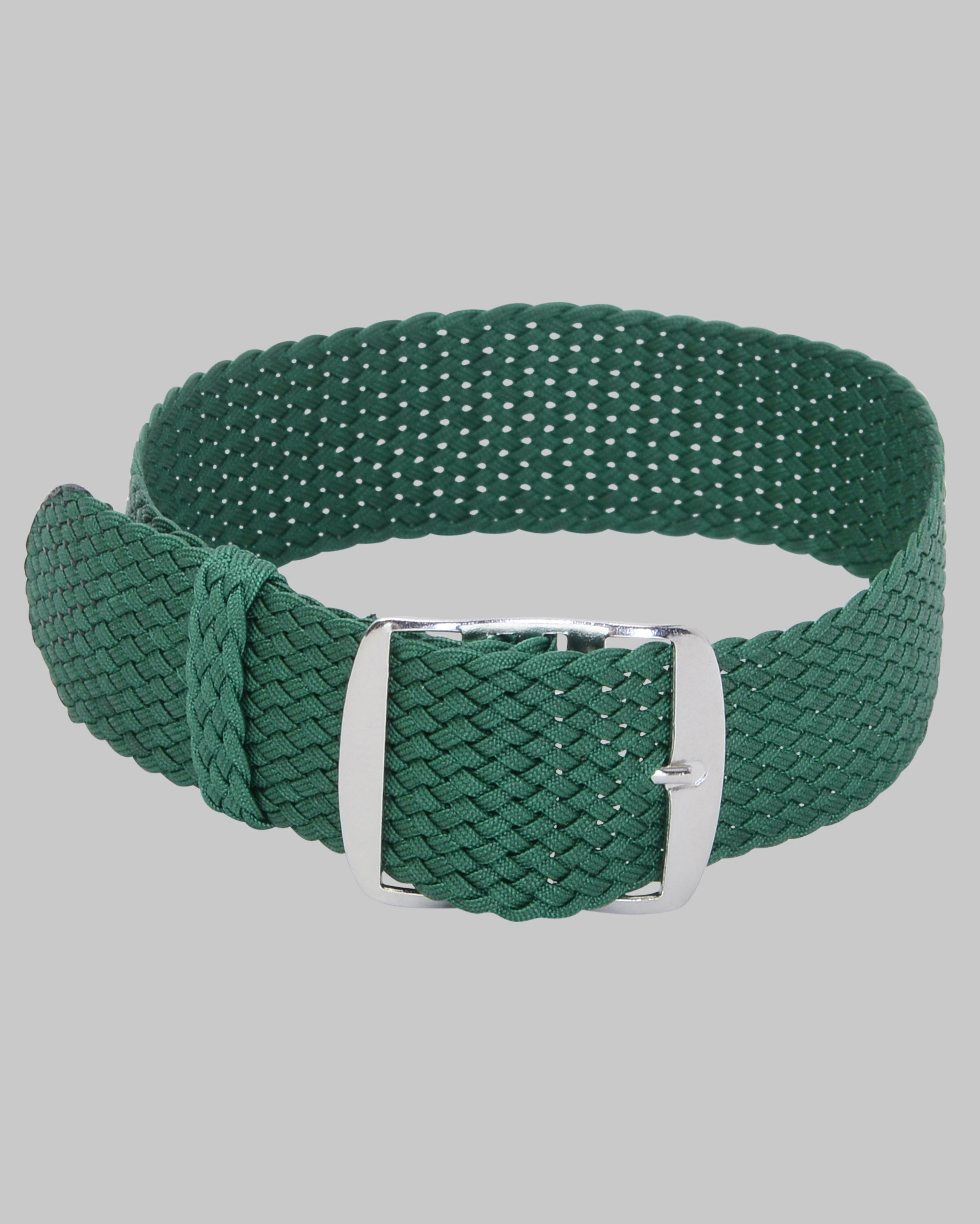 Perlon Single Pass Watch Strap (Green)