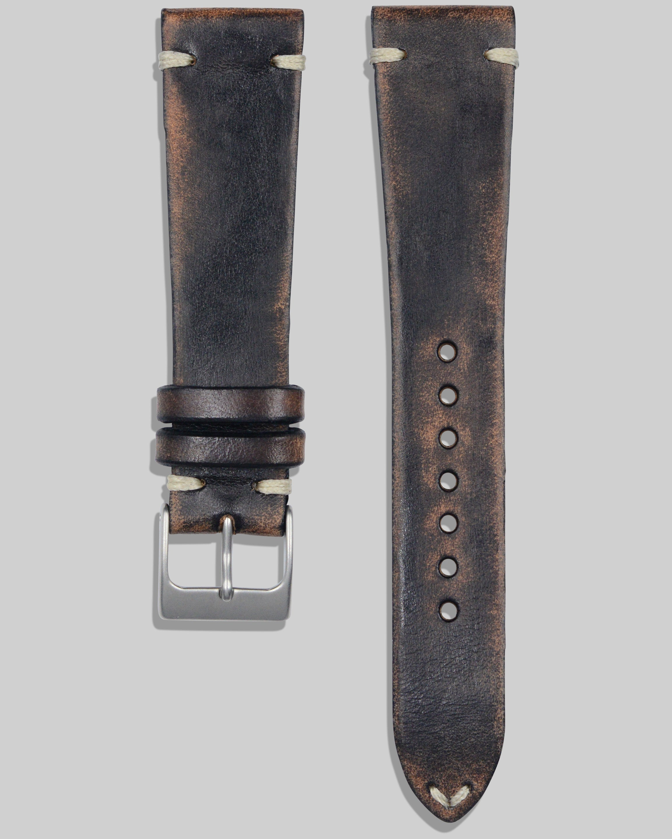 Vintage Style Watch Strap (Distressed Chocolate)