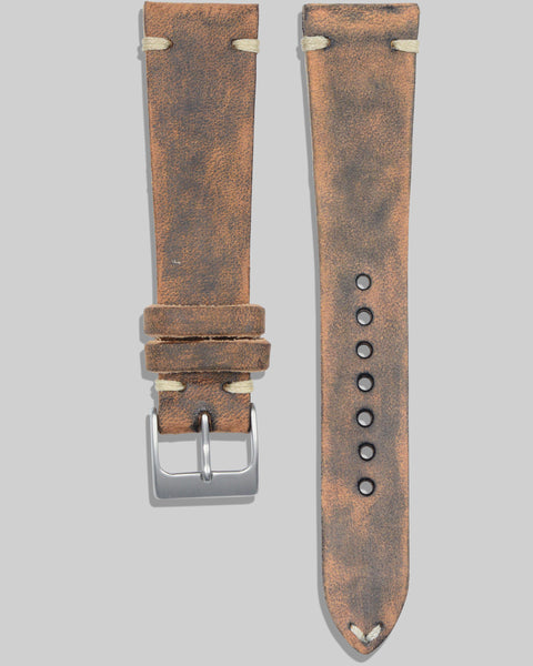 Vintage Style Watch Strap (Distressed Coffee)