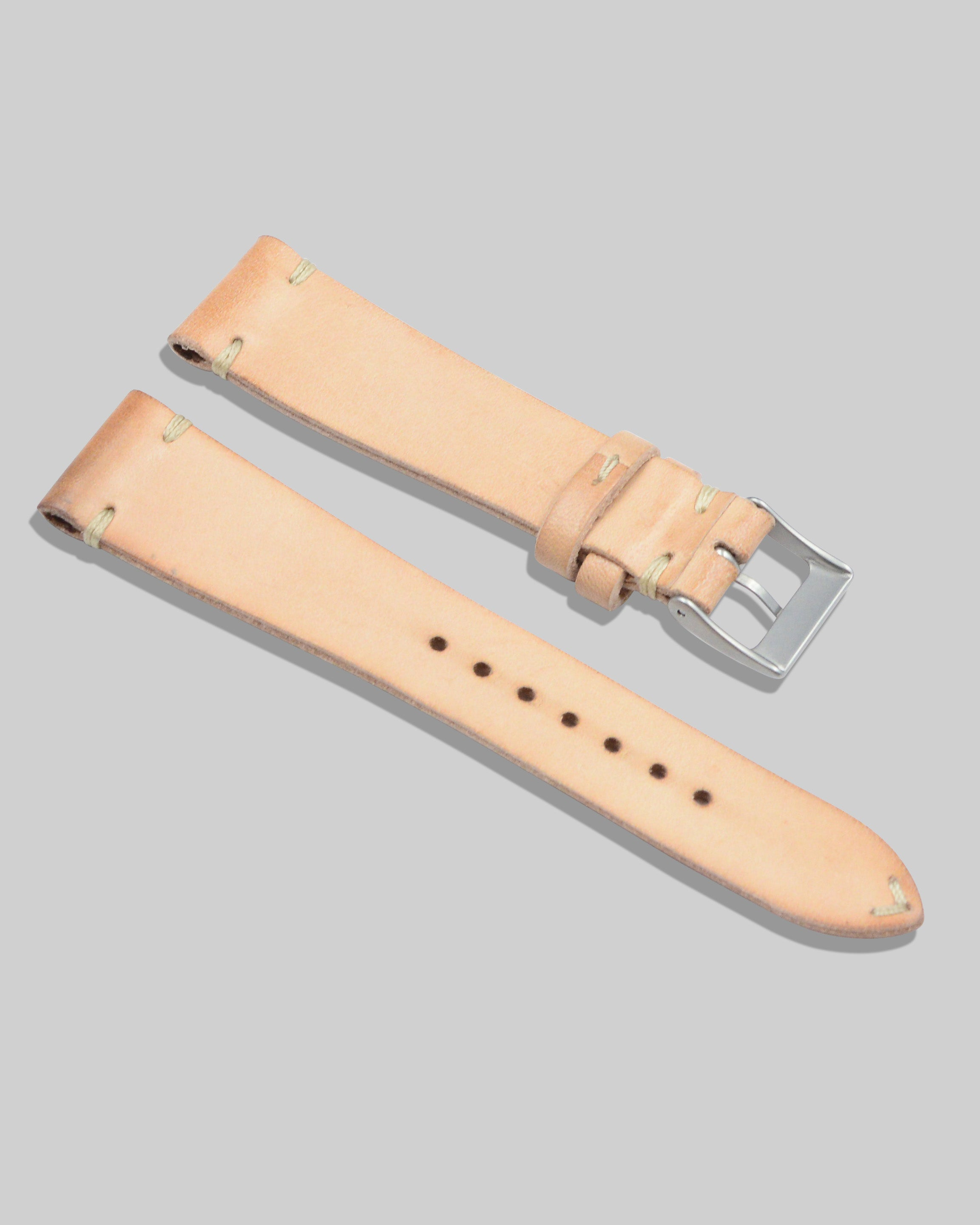 Vintage Style Watch Strap (Natural)