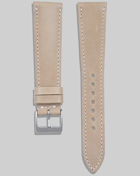Antique Calfskin Watch Strap (Taupe)