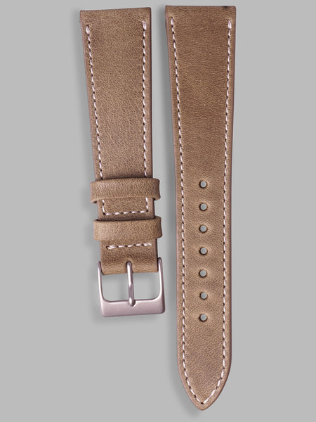 Antique Calfskin Watch Strap (Mushroom)