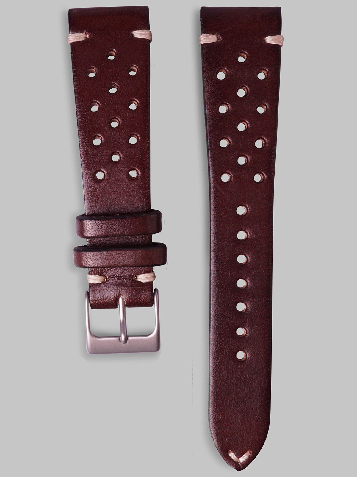 Calfskin Rally Watch Strap (Chestnut)
