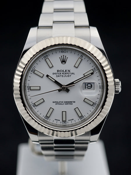 2015 Rolex DateJust 116334 with Both and Papers