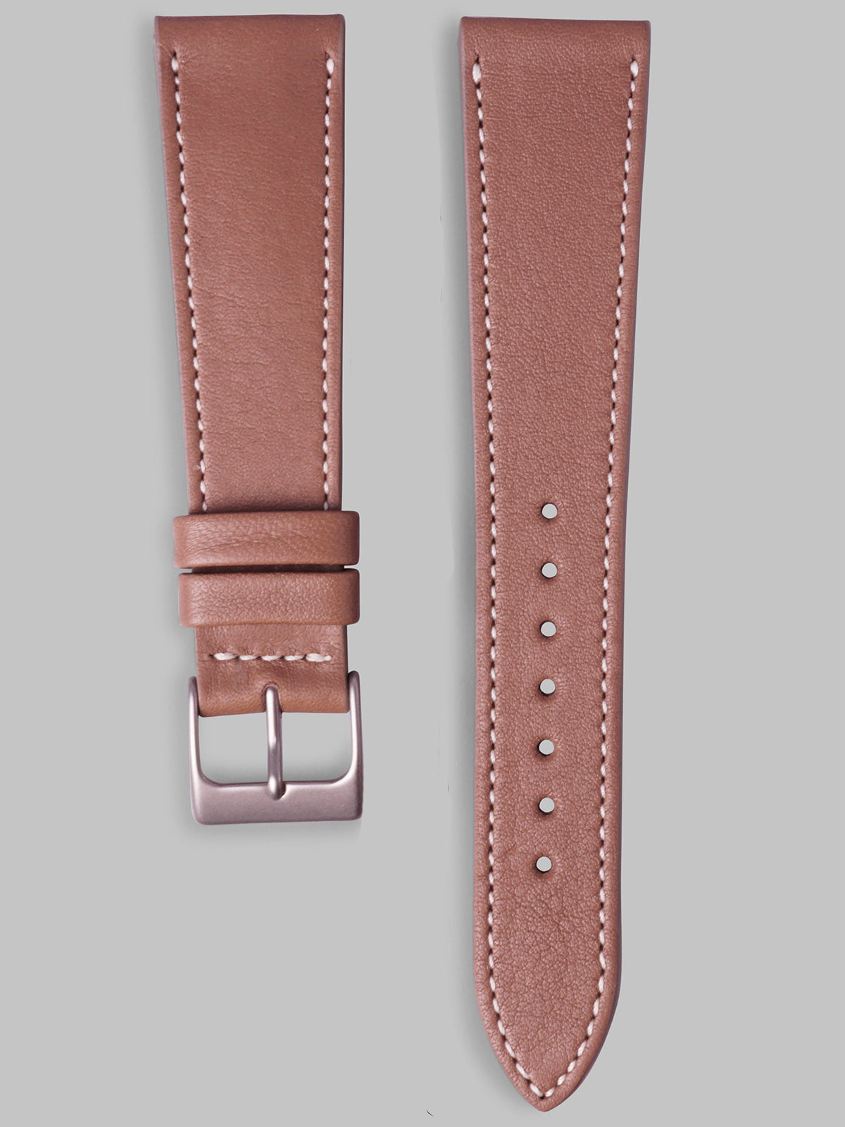 Smooth Calfskin Watch Strap (Taupe)