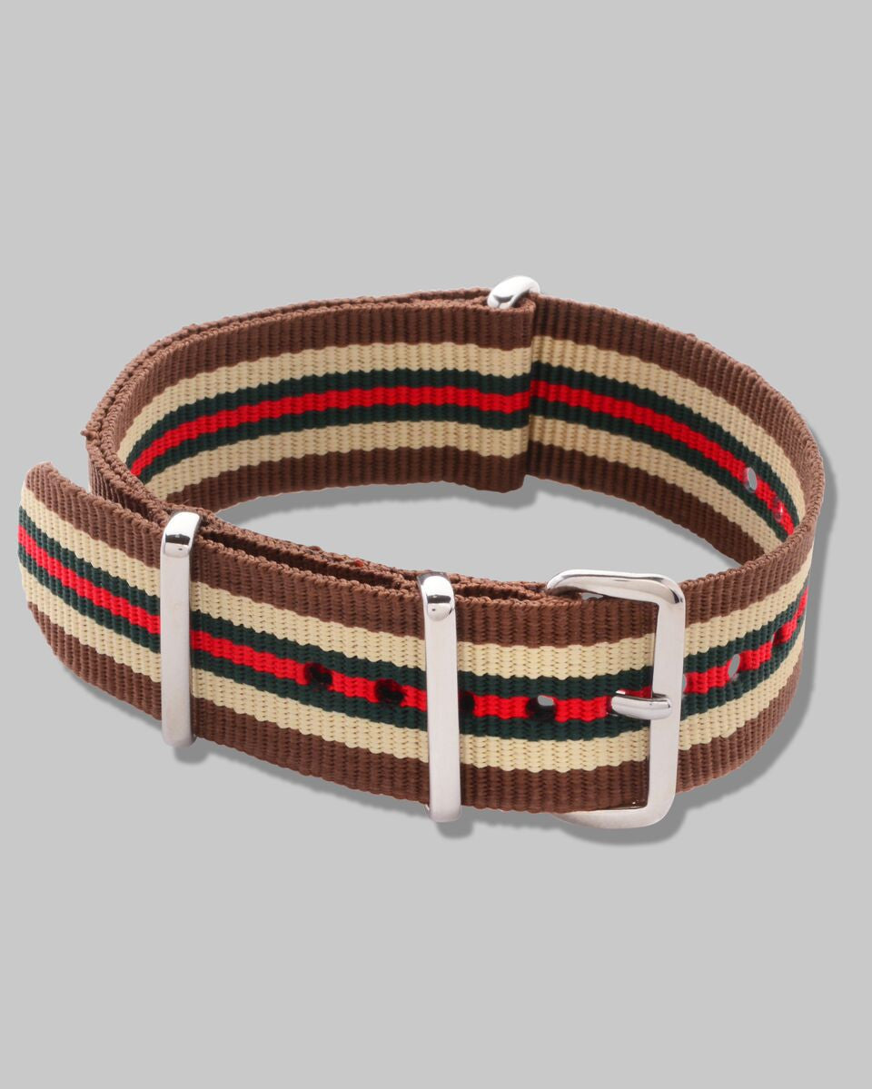 NATO Watch Strap (Brown Multi Stripe)