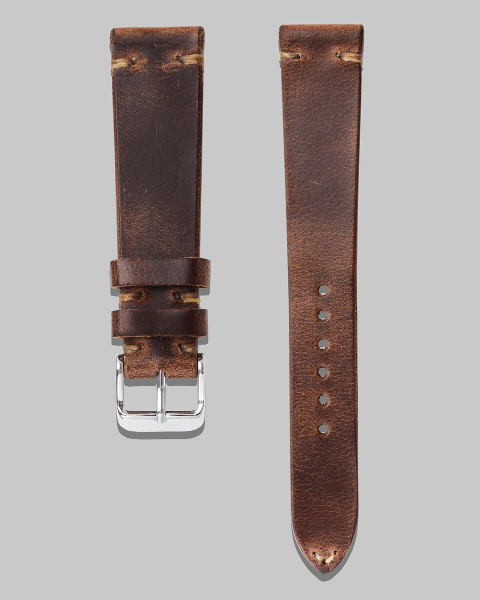 Horween Chromexcel Leather Watch Strap (Stone)