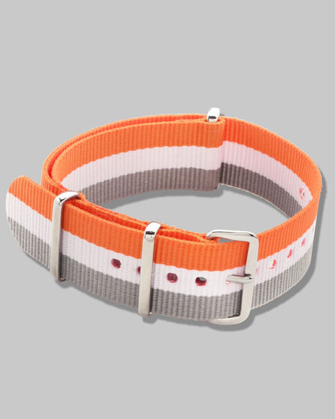 NATO Watch Strap (Orange, White, Grey)