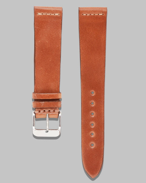 Natural Horween Shell Cordovan Watch Strap