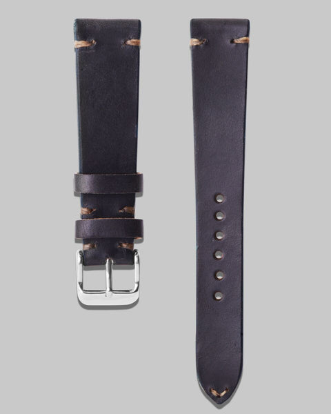 Horween Chromexcel Leather Watch Strap (Navy)