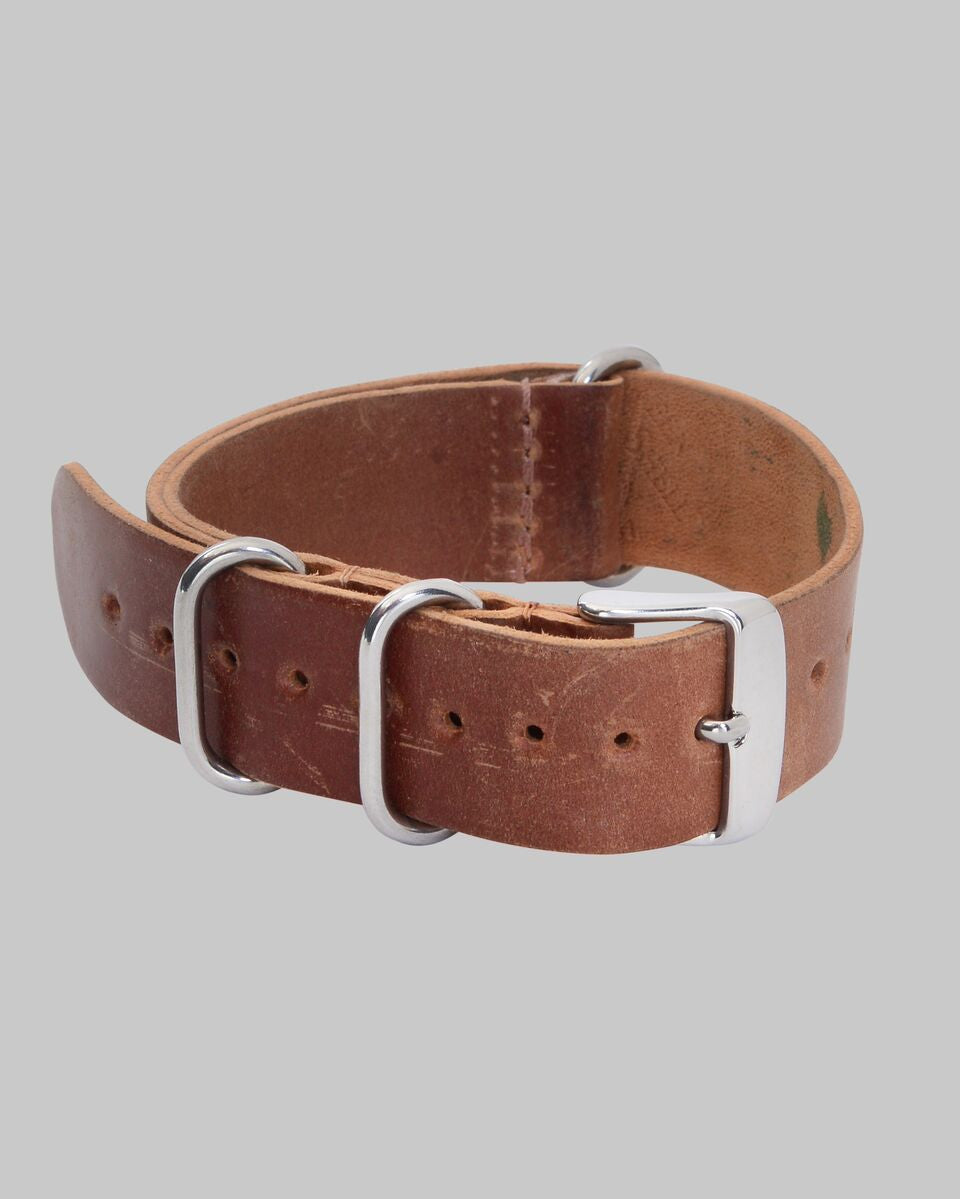 Horween Shell Cordovan NATO Style Watch Strap 20mm (Natural)