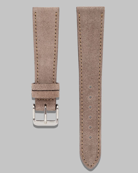 Vintage style suede watch strap