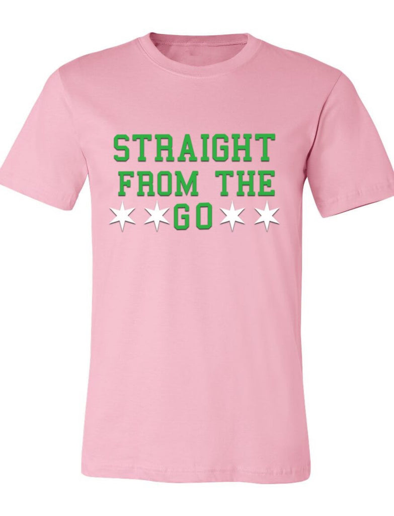Straight From The Go Pink and Green Tee (AKA Inspired)