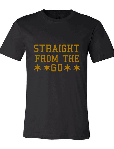 Straight From The Go Black and Gold Tee (Alpha Inspired)