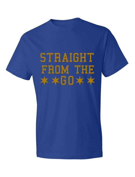 Straight From The Go Blue and Gold Tee (Sigma Gamma Rho Inspired)