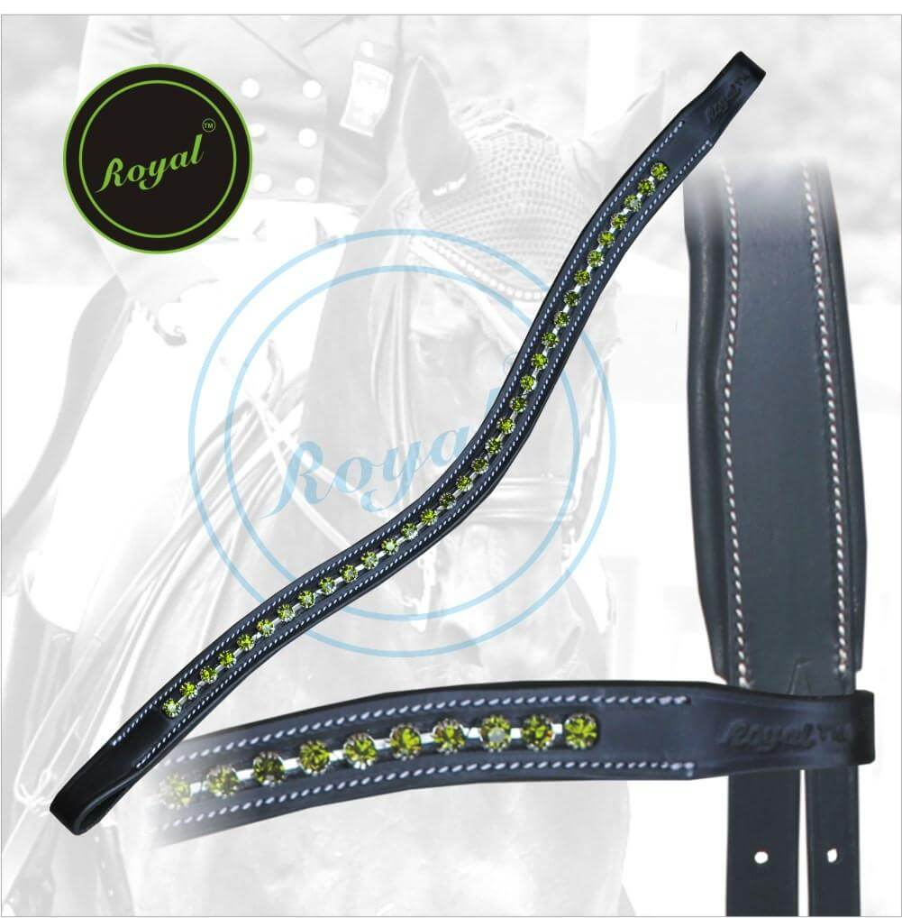 U-Shaped Green Crystal Browband