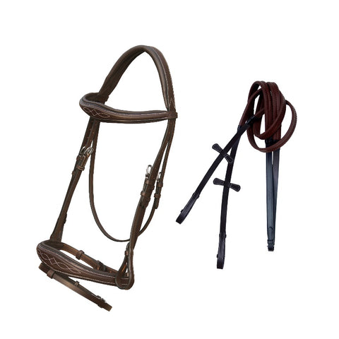 snaffle horse bridle